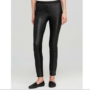 Eileen Fisher Black Leather Front Leggings XS/TP